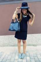 Zara dress - black Zara hat - Primark bag