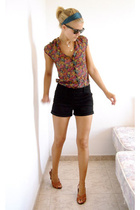 H&M blouse - H&M shorts - H&M accessories - H&M shoes