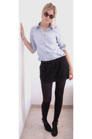 H&M shirt - Zara skirt - Nine West shoes
