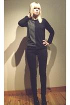 black Cheap Monday pants - black Din Sko shoes