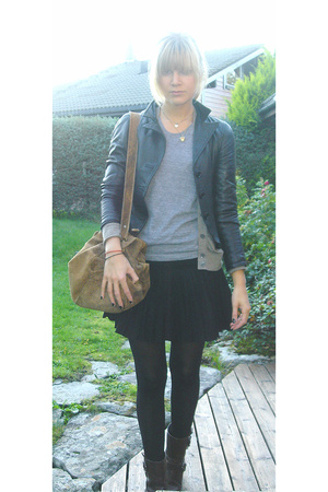 vintage from Italy jacket - American Apparel t-shirt - H&M skirt - by me shoes