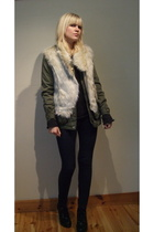 Oasis vest - H&M jacket - Bik Bok pants - Din Sko shoes - MiuMiu sweater