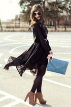 Sheinside skirt - Cubus shirt - romwe bag