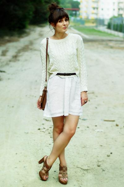 Zara dress - Mango sweater - czasnabutypl sandals