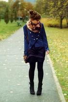 black Promod boots - blue H&M blazer