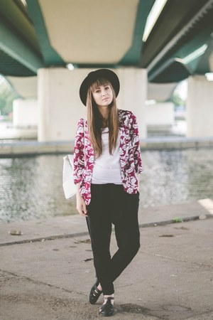 magenta new look blazer - black Bershka pants