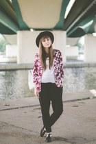 magenta new look blazer - black Bershka pants