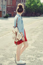 Ruby-red-housepl-dress-eggshell-czasnabuty-flats
