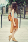 Tawny-romwe-dress-burnt-orange-romwe-bag-sky-blue-new-look-vest