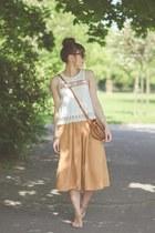 bronze new look sandals - beige new look top
