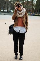Zara jacket - H&M shirt - H&M top - Trendsetterkacom necklace