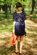 navy H&M skirt - navy H&M top