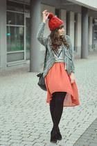 coral romwe skirt - silver Chcnova blouse