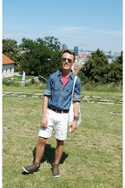 Philip Russel shirt - H&M bag - second hand shorts - c&a sunglasses - H&M belt
