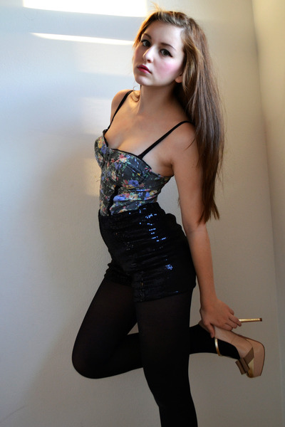 black H&M panties