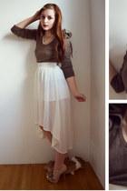 white Skirt skirt