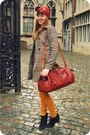 Black-zara-boots-camel-h-m-coat-ruby-red-vintage-scarf