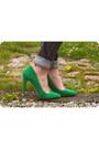 Green-military-jacket-gray-h-m-jeans-green-zara-heels