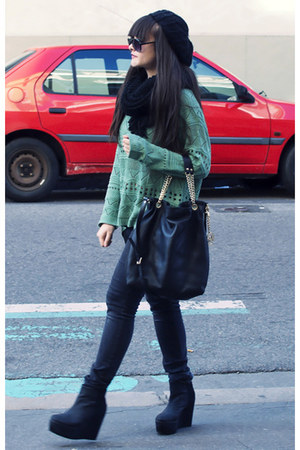 chicnova jumper - H&M boots - Michael Kors bag
