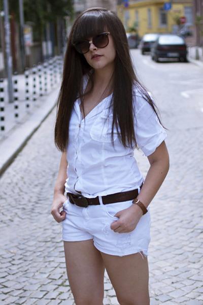 Zara shirt - Bershka shorts
