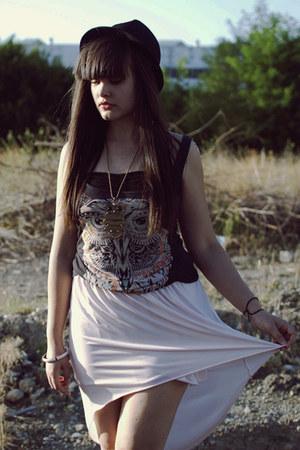 light pink Terranova shirt - dark gray Bershka top