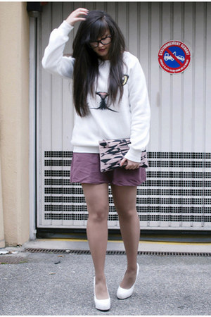 Sheinside sweater - BRIANNEFAYE bag - H&amp;M skirt