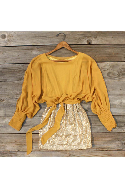mustard Spool No 72 top - gold gold Spool No 72 skirt