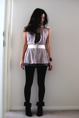 Valerie Tolosa top - f21 top - random leggings - madewell shoes