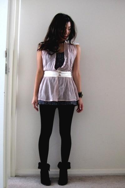 Valerie Tolosa top - f21 top - random leggings - madewell shoes