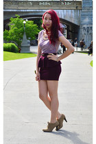 deep purple Urban Planet skirt - gold Ebay bracelet - light purple garage top