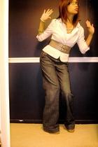 forever 21 blazer - Limited belt - Gap jeans - Jeffrey Campbell shoes - Express