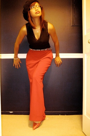 Moda International Victorias Secret pants - banana republic shirt - Target belt