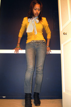 Forever21 sunglasses - lux uo jeans - Target belt - Forever21 blazer - Jeffrey C