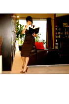 Zara dress - H & M blouse - Nine West shoes