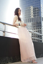 light pink chiffon maxi Forever 21 skirt - ivory no brand dress
