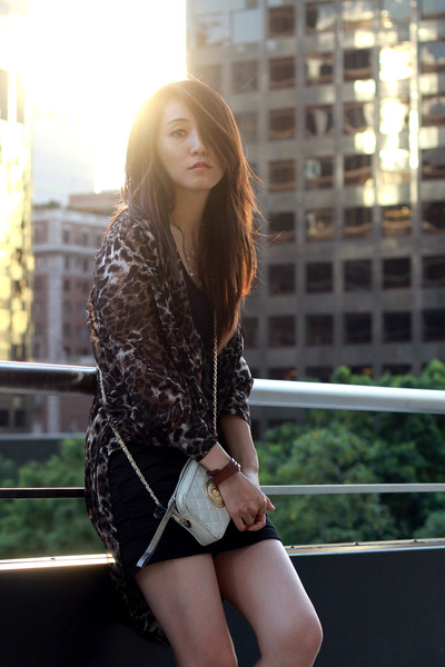 black Zara heels - black cotton dress Urban Outfitters dress