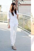 skinny jeans Uniqlo jeans - cotton H&M shirt - no brand bag - no brand sandals