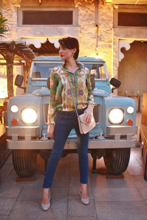 Zara blouse - Zara jeans