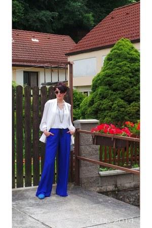 Mango cardigan - Zara blouse - Mango pants