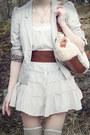 Light-purple-h-m-scarf-brown-scorett-boots-off-white-lindex-dress