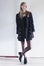 Black-zara-boots-navy-tuxedo-zara-blazer-black-jumpsuit-topshop-romper