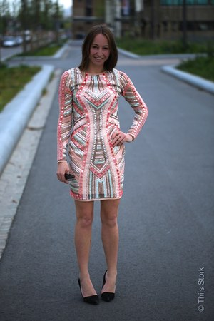 bubble gum River Island dress