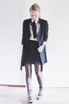 black long Agna K blazer - white with bow Sheinside blouse