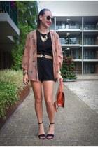 coral Chicwish jacket - black sheer Blackfashionstore romper