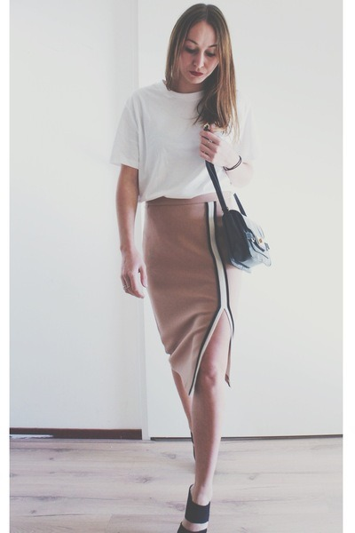 Light Pink Pencil Skirt Zara Skirts, Black Lock Asos Bags ...