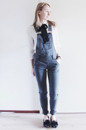 heather gray overalls abercrombie and fitch jeans