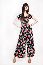 SWEETHEART 90's WIDE-LEGGED FLORAL PANTSUIT