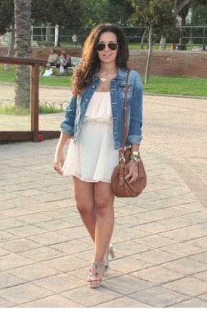neutral H&M dress - pull&bear coat
