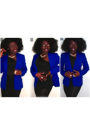 black ILOVESEXY dress - blue calvin klein blazer