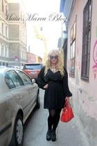 no name bag - Jeffrey Campbell boots - Zara dress - Chanel necklace